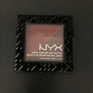 New NYX blush/ bronzer combo. Great pigment.